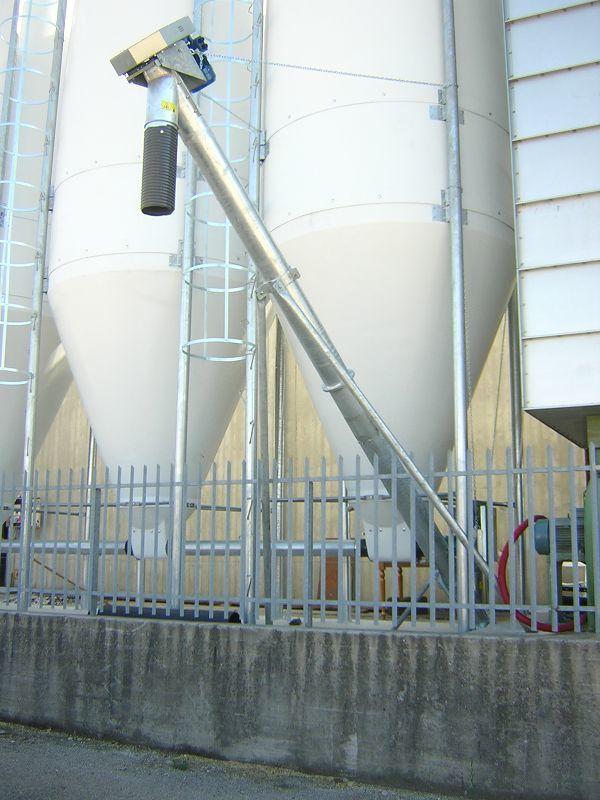 Coclea di estrazione da impianto silos vetroresina