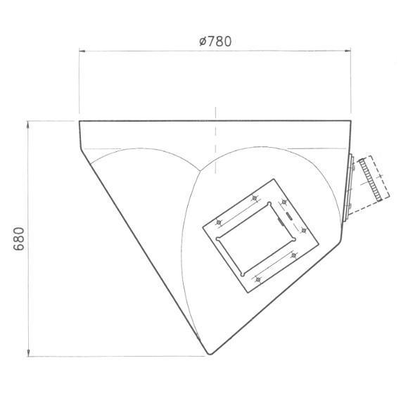 Dimensioni terminale silos per coclea inclinata 30 gradi