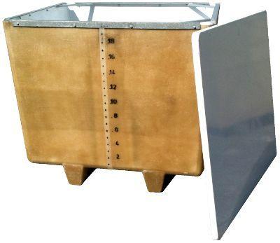 Vasca in vetroresina da 2000 litri a fondo piano